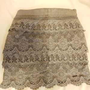 Abercrombie and Fitch Grey Lace Skirt